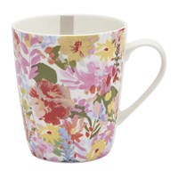 Joules Hollyhock Meadow China Mug White Floral