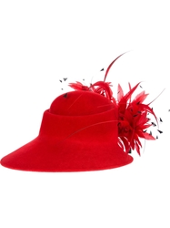 Philip Treacy Feather Hat Red