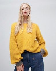 Intropia Balloon Sleeve Jumper Yellow