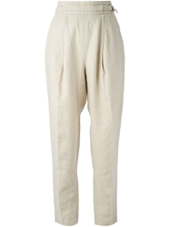 Mani Vintage High Waisted Trousers Nude And Neutrals