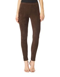 Sanctuary Skinny Fit Suede Leggings Rich Chocolate