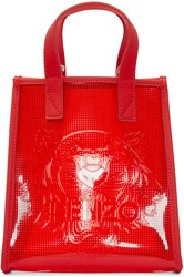 Kenzo Red Vinyl Tiger Tote