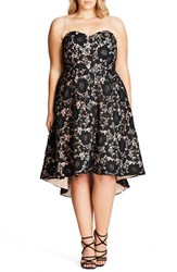 City Chic Plus Size Women's Sierra Lace Strapless Fit And Flare Dress
