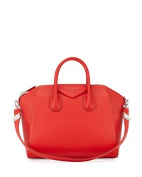 Givenchy Antigona Medium Leather Satchel Bag Medium Red 283Beige B