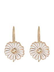 Alison Lou Sapphire Enamel And Yellow Gold Daisy Earrings Yellow Gold