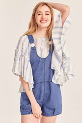 Bdg Lucy Shortall O Ring Overall Dark Blue