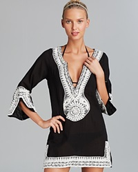 Debbie Katz Shanti Mirror Cotton Gauze Tunic Swim Cover Up
