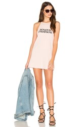 The Laundry Room Bonjour Champagne Tank Dress Pink