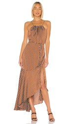 Elliatt Bronte Dress In Brown. Caramel