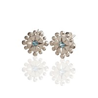Frillybylily Silver Gemstone Earrings Bobble And Twinkle