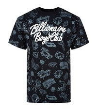 Billionaire Boys Club Galaxy Print Short Sleeve T Shirt Male Black