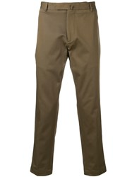 Dell'oglio Cropped Tailored Trousers Brown