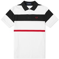 Fred Perry Authentic Bold Stripe Polo White