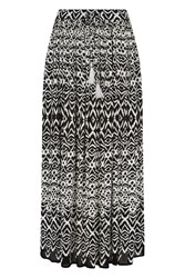 Roman Originals Tribal Print Maxi Skirt Black