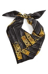 Moschino Women's Belt Print Silk Scarf