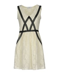 Axara Paris Short Dresses Ivory