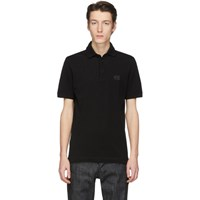Dolce And Gabbana Black Stamp Polo