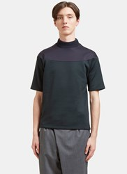 Kolor Contrast Panel Thick Jersey T Shirt Green