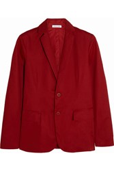 Tomas Maier Cotton Gabardine Blazer Red