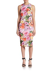 Alexia Admor Floral Print Sheath Dress Multi