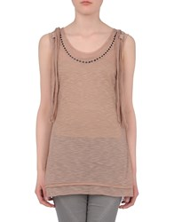 Freesoul Topwear Sleeveless T Shirts Women Dove Grey