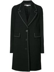 Stella Mccartney Single Breasted Coat Black