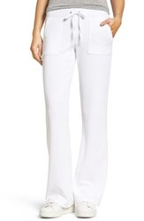 Juicy Couture Women's Del Rey Velour Track Pants White