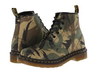 Dr. Martens Cerren 6 Eye Boot Green Large Camo Waxy Canvas Women's Lace Up Boots