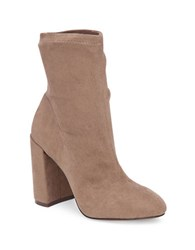 Bcbgeneration Lilianna Stretch Microsuede Booties Taupe