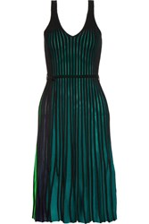 Kenzo Ribbed Stretch Knit Dress Green
