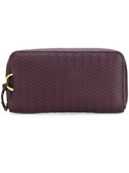 Zanellato Wave Embossed Wallet Leather Red