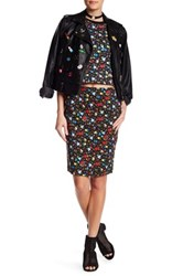 Love Moschino Floral Pocket Skirt Black