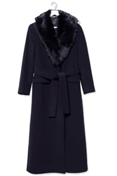 Toascana Collar Coat By Boutique Navy Blue