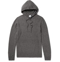 Aspesi Wool Yak And Cashmere Blend Hoodie Gray