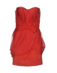 X's Milano Short Dresses Red