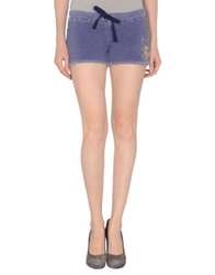 Dirtee Hollywood Sweat Shorts Dark Purple