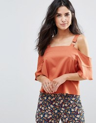 Influence Ring Detail Cami Top Tabacco Orange