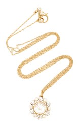 Renee Lewis Shake 18K Gold Diamond And Pearl Necklace