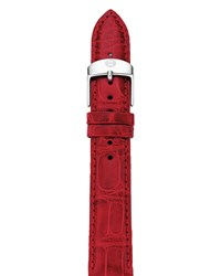 18Mm Alligator Watch Strap Garnet Michele Red