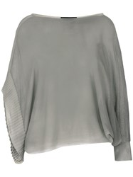 Lost And Found Ria Dunn Single Sleeve Knit Top Grey