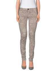 Camouflage Ar And J. Trousers Casual Trousers Women Dove Grey