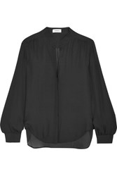 L'agence Bianca Silk Georgette Blouse Black