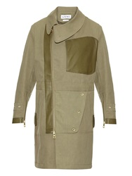 Loewe Leather Trimmed Cotton Trench Coat