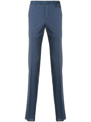 Pt01 Pleated Tailored Trousers Blue