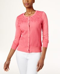 Charter Club Lace Cardigan Only At Macy's Glamour Pink