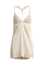 Fleur Of England Golden Hour Lace And Silk Blend Slip Light Pink