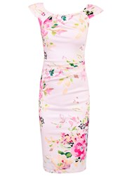 Jolie Moi Ruched Wiggle Dress Pink