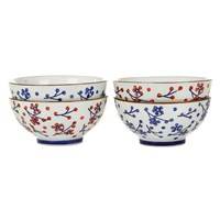 Pols Potten Japanese Dot Bowls Set Of 4