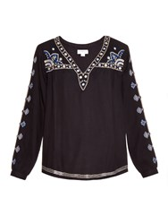 Velvet By Graham And Spencer Chantel Embroidered Blouse