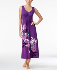 Alfani Floral Print Knit Nightgown Only At Macy's Purple Plumeria